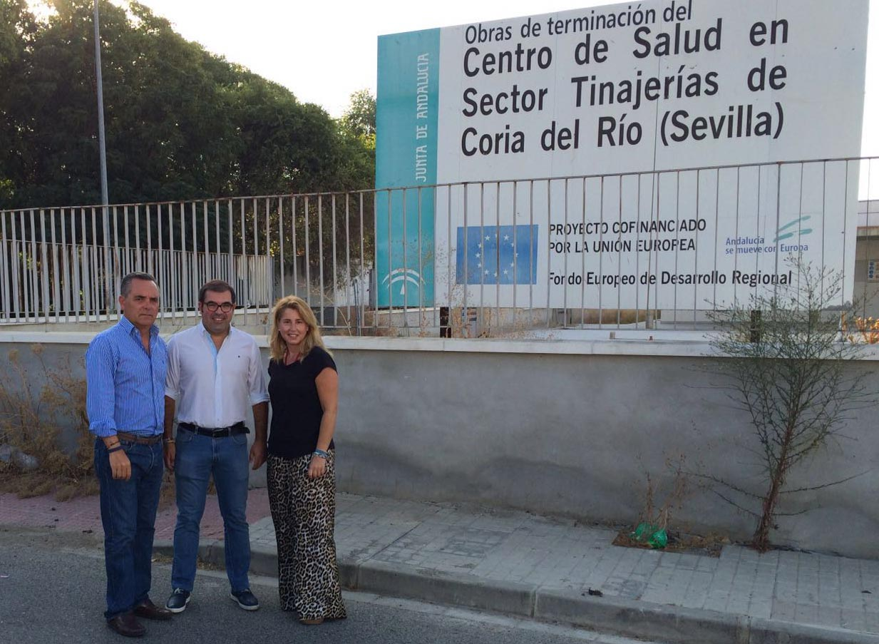 El PP de Sevilla denuncia una atención sanitaria en caracolas mientras la Junta lleva 10 años sin construir el centro de salud de Coria del Río