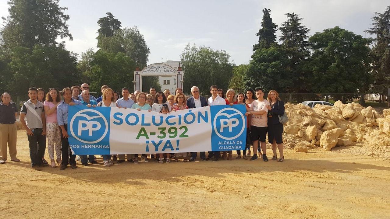 """Mociones del PP en Alcalá, Dos Hermanas y el Parlamento en defensa del proyecto """"original"""" de la A-392"""