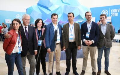 Todo preparado para la inauguración de la Convención Nacional del PP en Sevilla