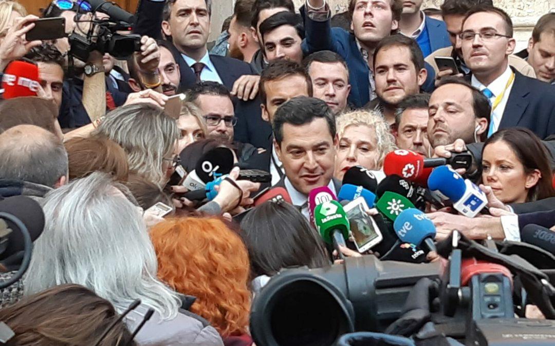 Juanma Moreno es ya el nuevo presidente de la Junta de Andalucía
