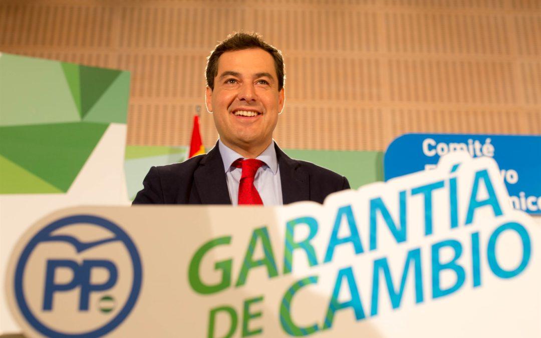 """Juanma  Moreno advierte de que """"no va a ceder en el liderazgo del cambio"""" porque tiene """"toda la legitimidad"""""""