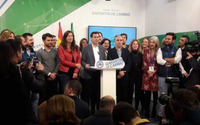 El cambio ha llegado a Andalucía y Juanma Moreno se presentará a la investidura como presidente de la Junta