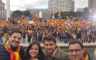 El PP de Sevilla se hace presente en Madrid, en defensa de la unidad de España