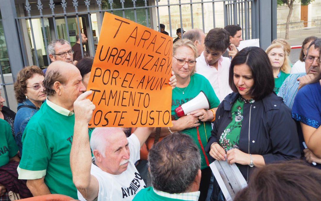 """Virginia Pérez: """"El Ayuntamiento de La Rinconada lleva más de 20 años cobrando impuestos a los vecinos de Tarazona sin prestar ni un servicio municipal"""""""