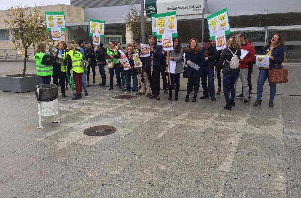 El PP de Sevilla apoya la concentración del Hospital de Utrera en el 12º aniversario de su inauguración para reclamar una salud digna