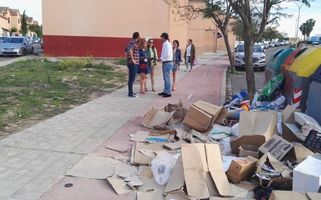 El PP de Espartinas exige al Ayuntamiento un plan de choque para regenerar calles, parques y jardines