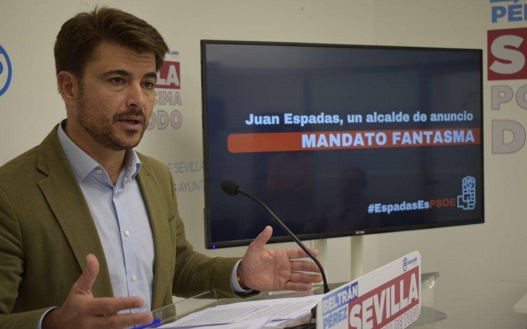 """Beltrán Pérez achaca a Espadas una veintena de proyectos y promesas que """"no se han hecho realidad"""""""